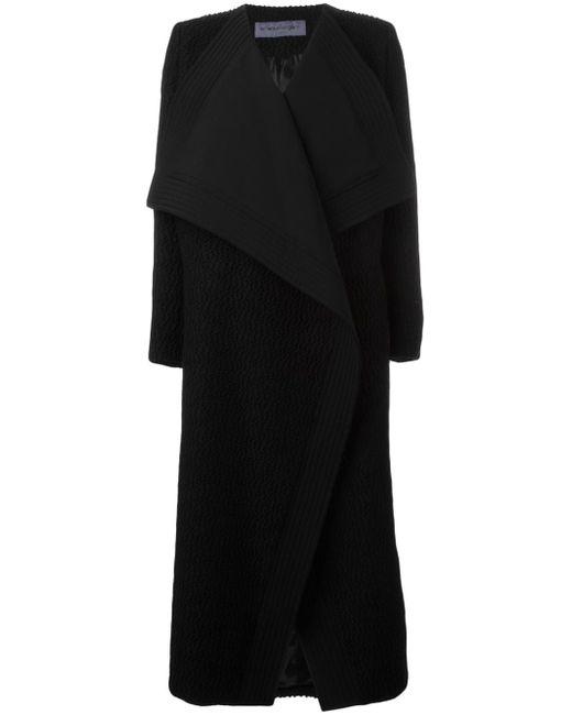 Пальто Средней Длины С Объемными Лацканами Emanuel Ungaro                                                                                                              чёрный цвет