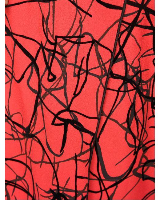 Flocked Layered Dress Proenza Schouler                                                                                                              чёрный цвет