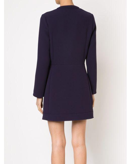 Платье Со Смещенной Планкой На Пуговицах Carven                                                                                                              синий цвет
