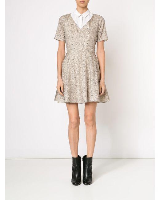Платье С V-Образным Вырезом Carven                                                                                                              белый цвет