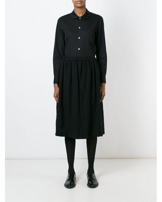 Плиссированная Юбка Comme Des Garcons                                                                                                              чёрный цвет
