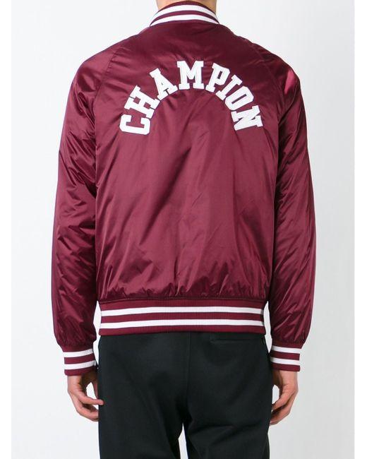 Атласная Куртка-Бомбер Champion                                                                                                              красный цвет