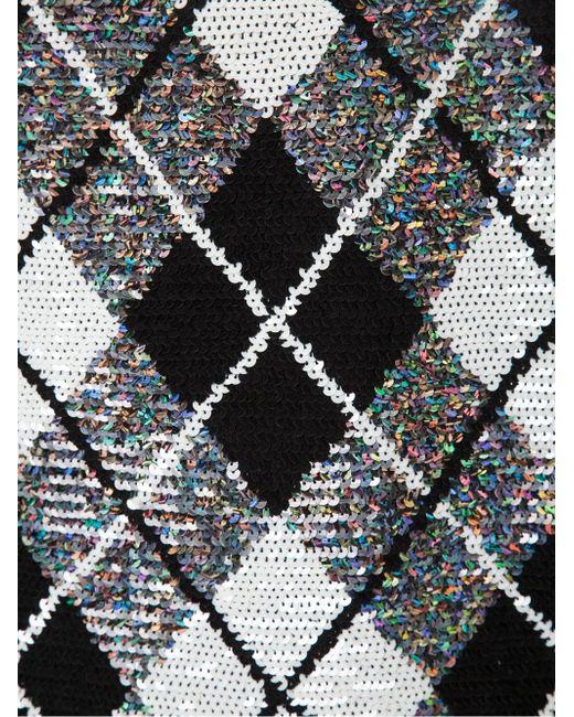 Мини-Платье С Узором Аргайл Ashish                                                                                                              чёрный цвет
