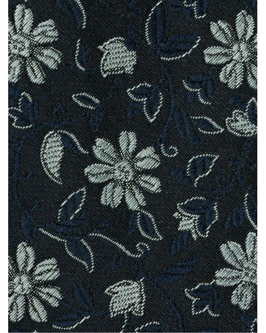 Галстук С Цветочным Принтом Massimo Alba                                                                                                              синий цвет