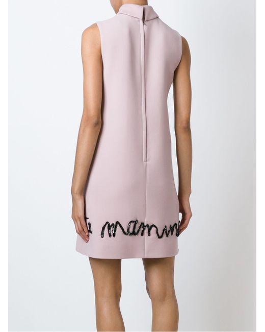 Drawings Appliqué Dress Dolce & Gabbana                                                                                                              розовый цвет