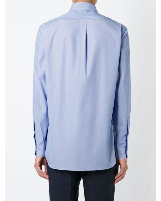 Рубашка В Тонкую Полоску Polo Ralph Lauren                                                                                                              синий цвет