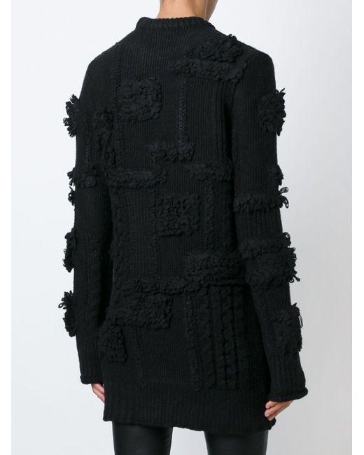 Свитер С Ворсистыми Деталями Nina Ricci                                                                                                              чёрный цвет