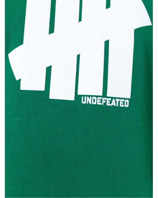 Толстовка С Принтом Логотипа Undefeated                                                                                                              зелёный цвет