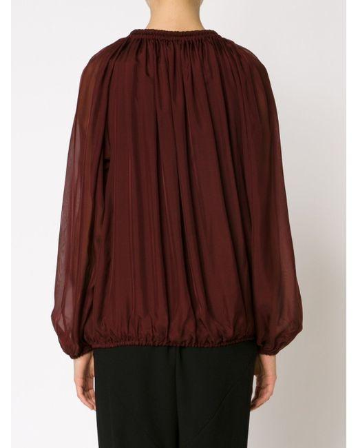 Прозрачная Блузка С Канатной Деталью Lanvin                                                                                                              красный цвет