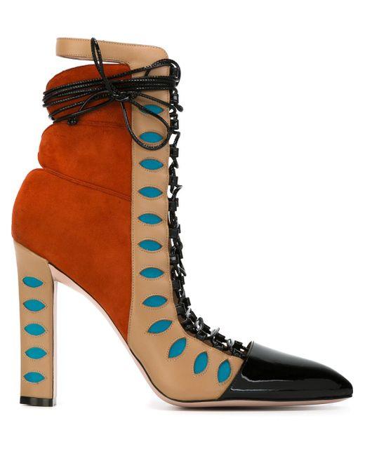 Ботинки На Шнуровке Warrior Paula Cademartori                                                                                                              желтый цвет
