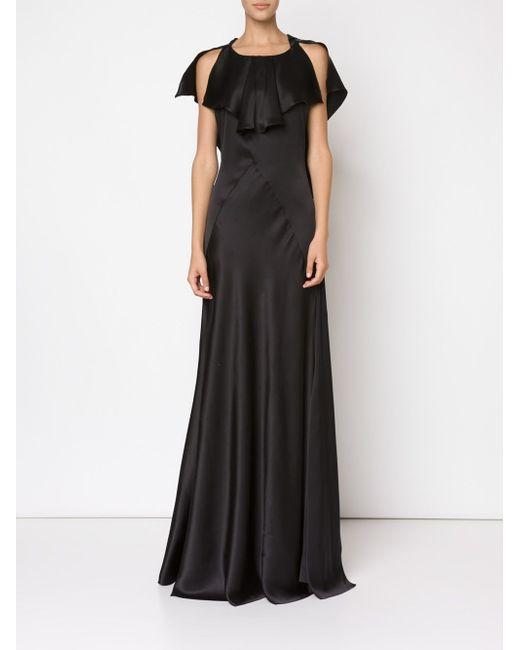 Вечернее Платье С Открытыми Плечами Maison Margiela                                                                                                              синий цвет