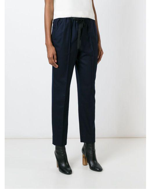 Lace Fastening Tapered Trousers Incotex                                                                                                              синий цвет