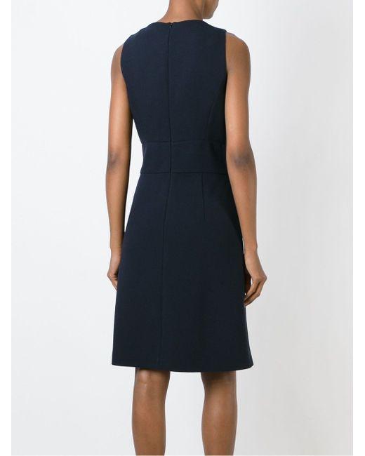 Платье Без Рукавов Декорированное Пуговицами Michael Kors                                                                                                              синий цвет