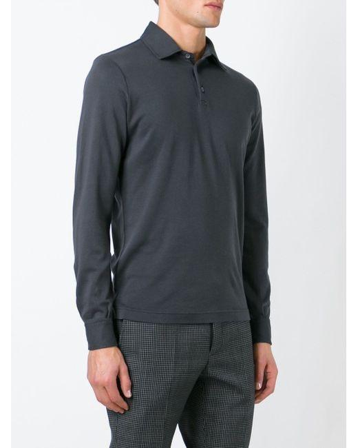 Классическая Рубашка-Поло Zanone                                                                                                              серый цвет