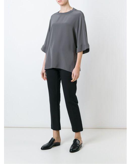 Блузка Свободного Кроя Joseph                                                                                                              серый цвет