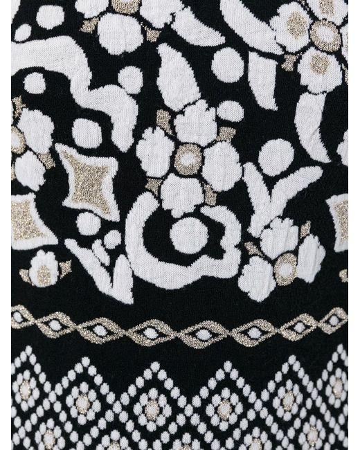 Платье С Узором В Стиле Барокко Alberta Ferretti                                                                                                              чёрный цвет