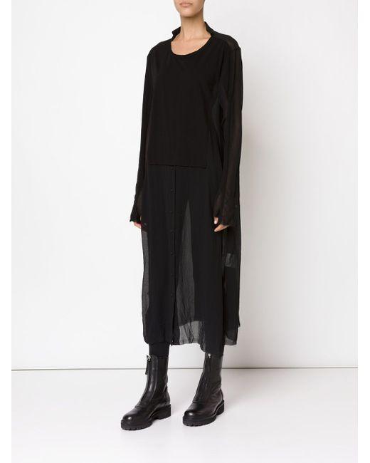 Прозрачное Платье-Рубашка Rundholz                                                                                                              чёрный цвет