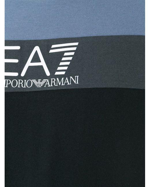 Футболка Колор-Блок EA7                                                                                                              чёрный цвет
