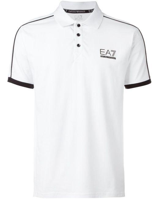 Футболка-Поло С Принтом Логотипа EA7                                                                                                              красный цвет