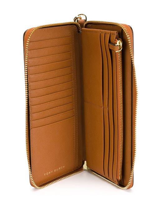 Континентальный Кошелек York Tory Burch                                                                                                              коричневый цвет