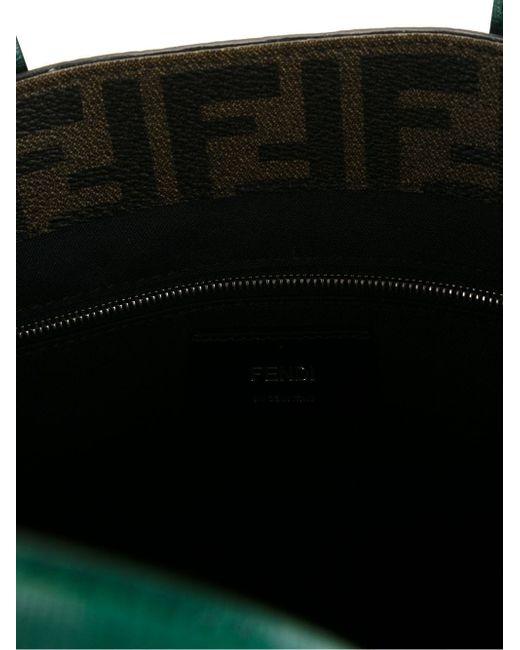 Сумка-Шоппер С Принтом Логотипа Ff Fendi                                                                                                              коричневый цвет