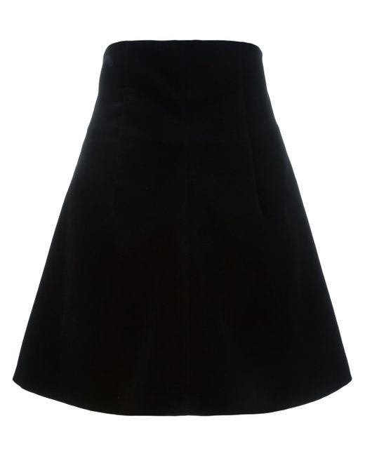 Velvet A-Line Skirt Red Valentino                                                                                                              чёрный цвет