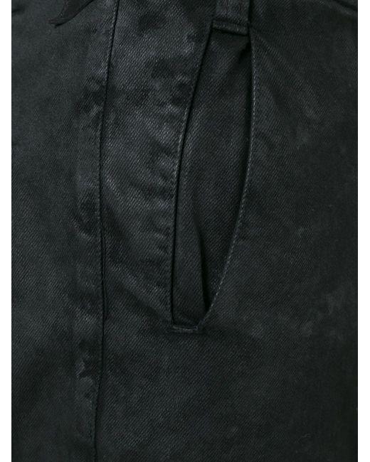 Шорты С Потертой Отделкой 11 BY BORIS BIDJAN SABERI                                                                                                              чёрный цвет