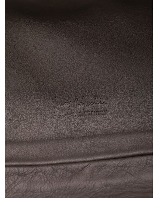 Stitched Detail Make-Up Bag Henry Beguelin                                                                                                              коричневый цвет