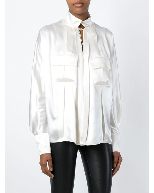 Блузка Свободного Кроя Alexandre Vauthier                                                                                                              Nude & Neutrals цвет