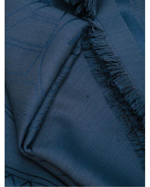 Шарф С Необработанными Краями Kenzo                                                                                                              синий цвет