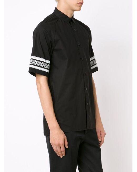 Рубашка С Принтом На Рукавах STAMPD                                                                                                              чёрный цвет