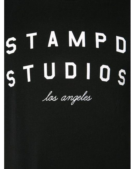 Футболка С Принтом Логотипа STAMPD                                                                                                              чёрный цвет