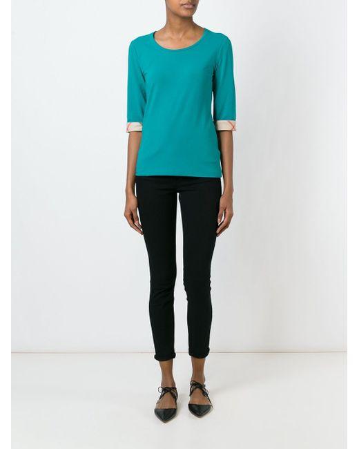 Three-Quarter Sleeve T-Shirt Burberry Brit                                                                                                              синий цвет