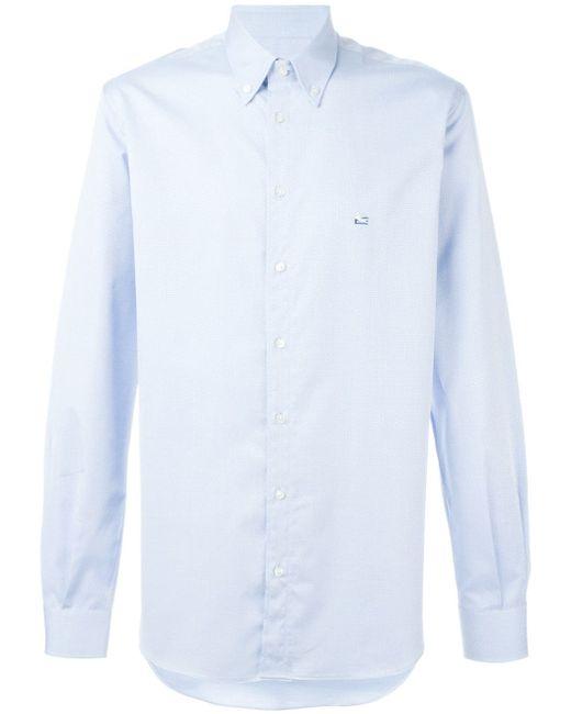 Классическая Рубашка В Стиле Casual Etro                                                                                                              синий цвет