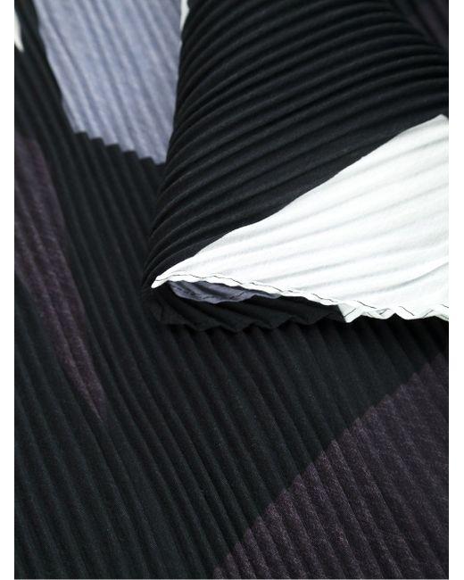 Плиссированный Шарф С Геометрическим Принтом Issey Miyake                                                                                                              чёрный цвет