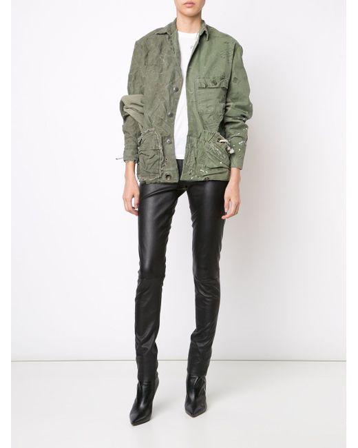 Куртка Единственного Экземпляра GREG LAUREN                                                                                                              зелёный цвет
