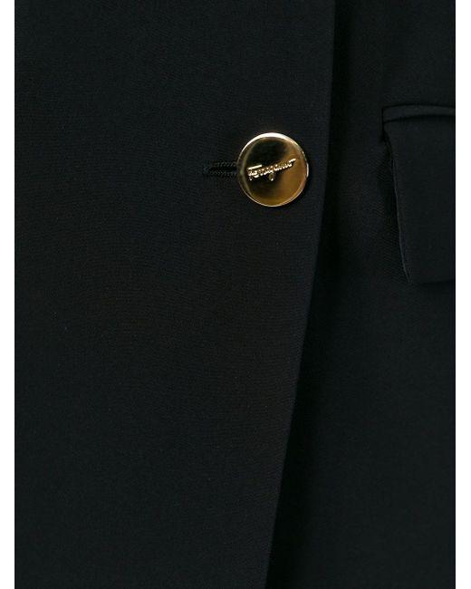 Двубортный Пиджак Salvatore Ferragamo                                                                                                              чёрный цвет