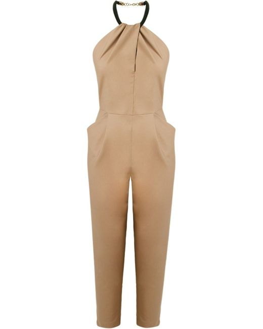 Fitted Waist Sleeveless Jumpsuit ANDREA MARQUES                                                                                                              коричневый цвет