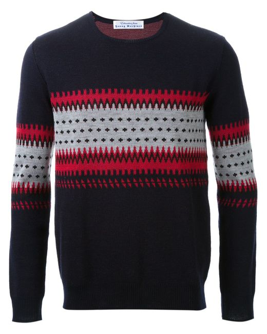 Intarsia Knit Sweater EDUCATION FROM YOUNGMACHINES                                                                                                              чёрный цвет