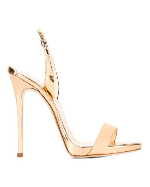 Slingback Sandals Giuseppe Zanotti Design                                                                                                              серебристый цвет