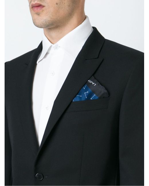 Нагрудный Платок С Точечным Узором Lanvin                                                                                                              синий цвет