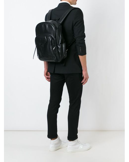 Рюкзак С Подписью-Логотипом Giuseppe Zanotti Design                                                                                                              чёрный цвет