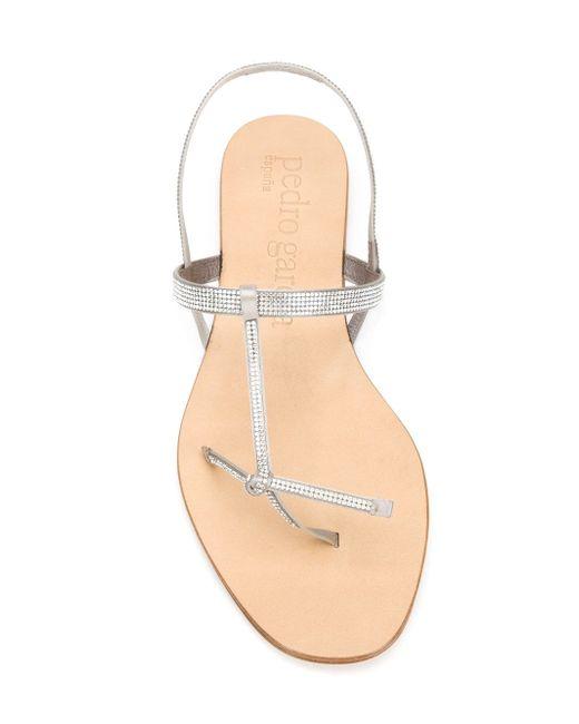 Crystal-Embellished Sandals Pedro García                                                                                                              Nude & Neutrals цвет