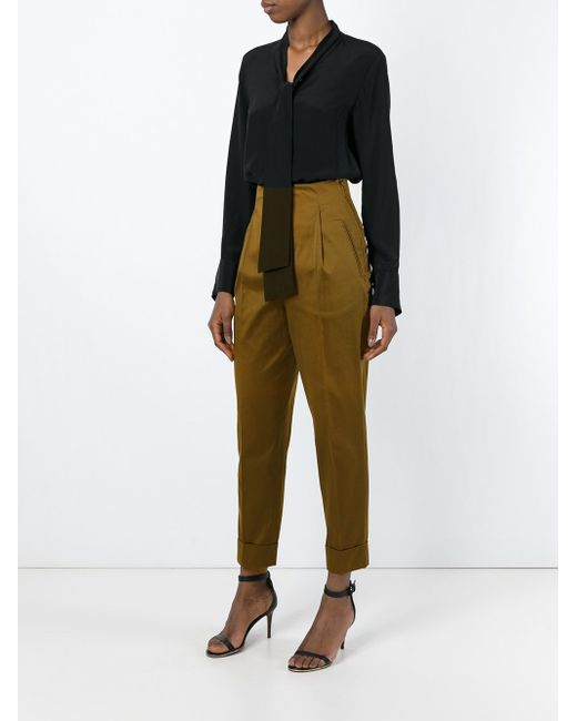 High-Waisted Trousers ROMEO GIGLI VINTAGE                                                                                                              коричневый цвет