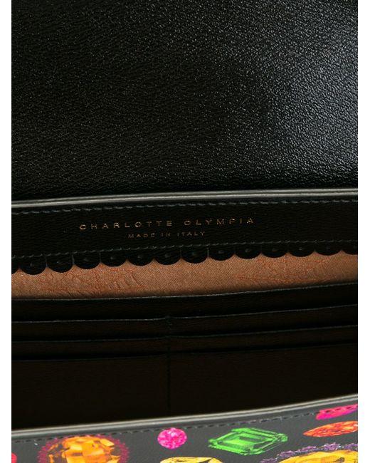Клатч Flynn Charlotte Olympia                                                                                                              чёрный цвет