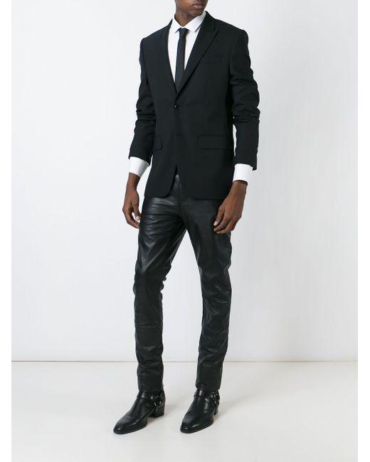 Брюки Прямого Кроя Saint Laurent                                                                                                              чёрный цвет
