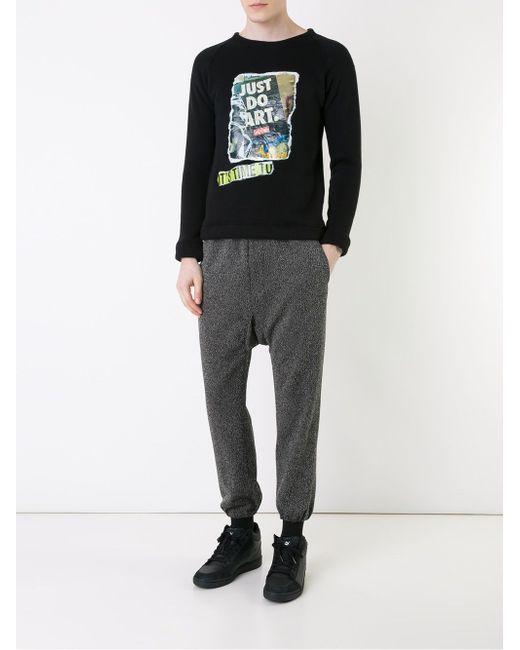 Graffiti Appliqué Sweatshirt FADTHREE                                                                                                              чёрный цвет