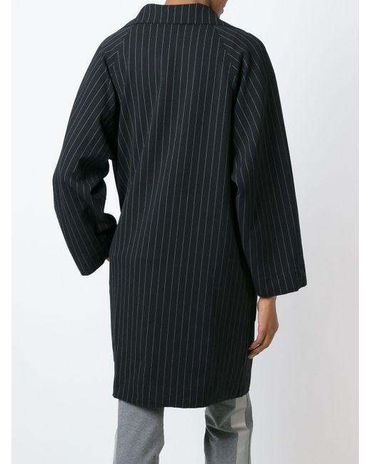 Пальто В Полоску Norma Kamali                                                                                                              чёрный цвет
