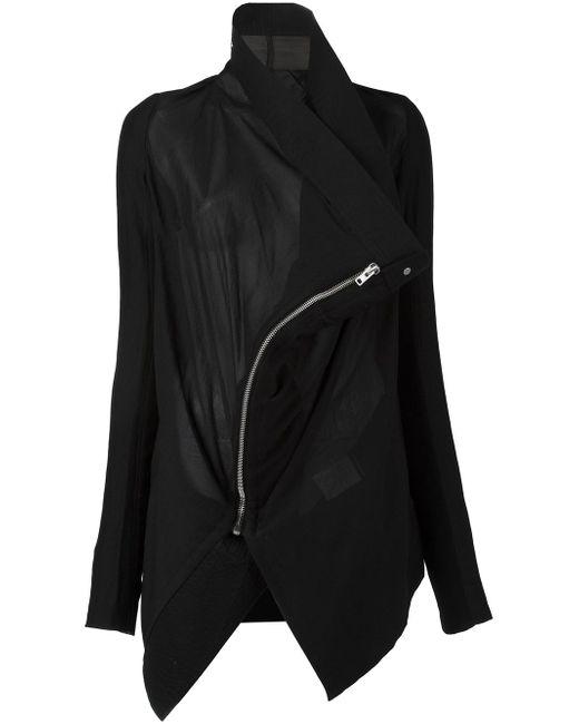 Куртка Exploder Saturn Rick Owens                                                                                                              чёрный цвет