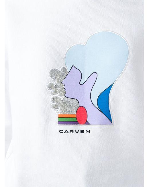 Толстовка С Вышивкой Профиля Лица Carven                                                                                                              белый цвет